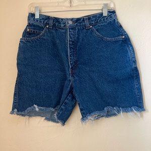 VTG 80's Levis Denim Jean Shorts Size S/M